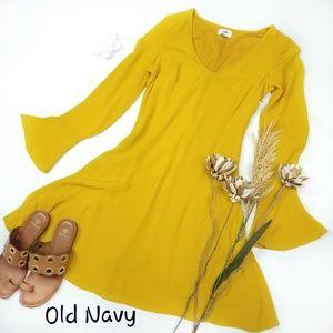 Old Navy - Gold Mustard Shimmer Tunic Top Dress 4